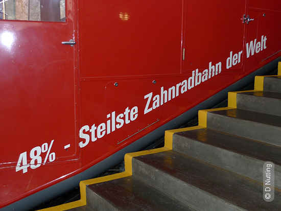Photo © D Nutting :: cog-railway car, »steilste« etc